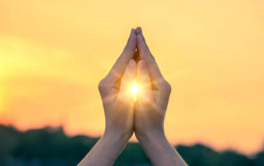 Preghiera al tramonto