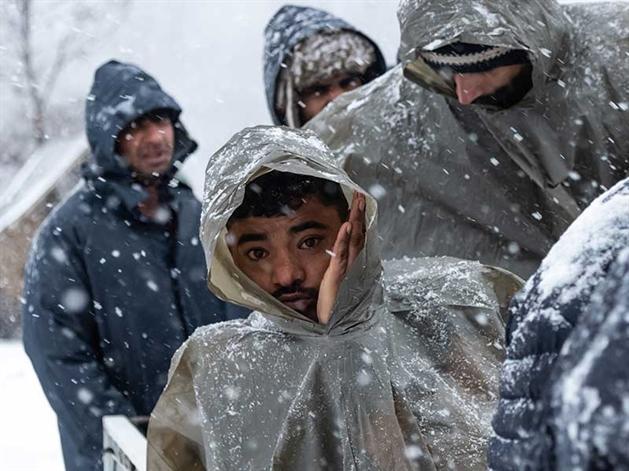Un refettorio da campo per i profughi di Lipa