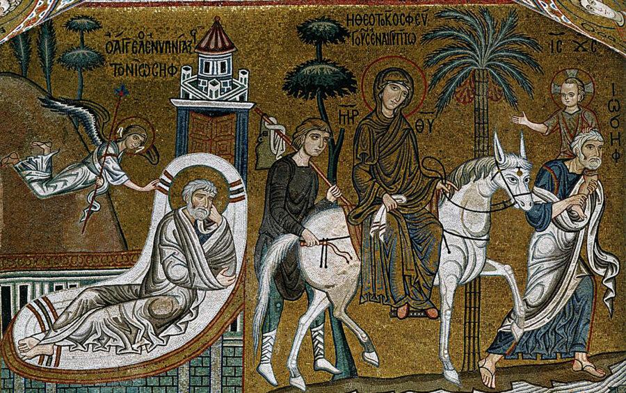 Palermo. Cappella Palatina. Il sogno di Giuseppe - La Sacra Famiglia e La Fuga in Egitto