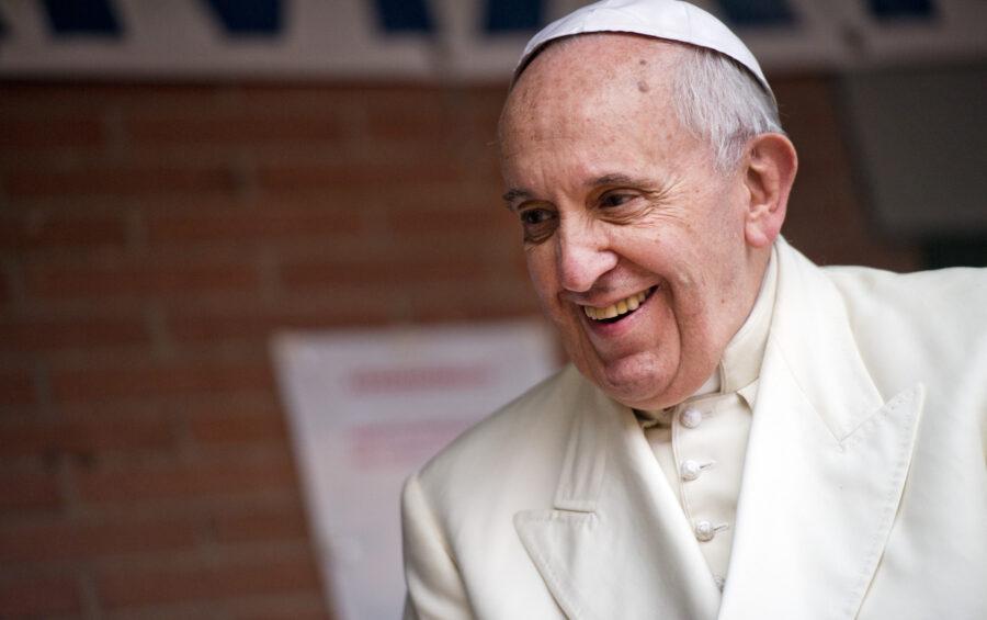 Roma 14 Dicembre 2014   Parrocchia San Giuseppe all' Aurelio  Papa Francesco celebra la Messa e  incontra famiglie, giovani, malati e bambini della parrocchia.
