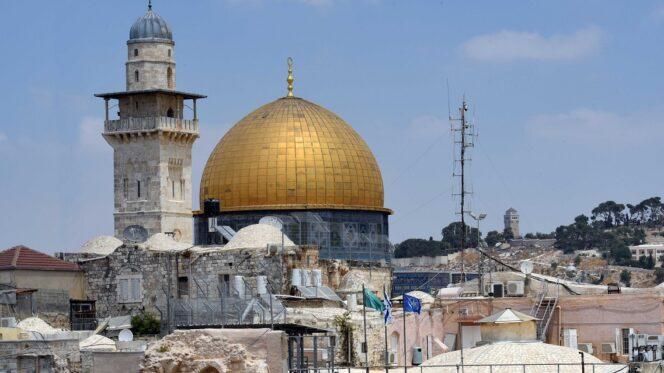 Gerusalemme (Israele ), 7 agosto 2019.  La Cupola della Roccia a Gerusalemme.