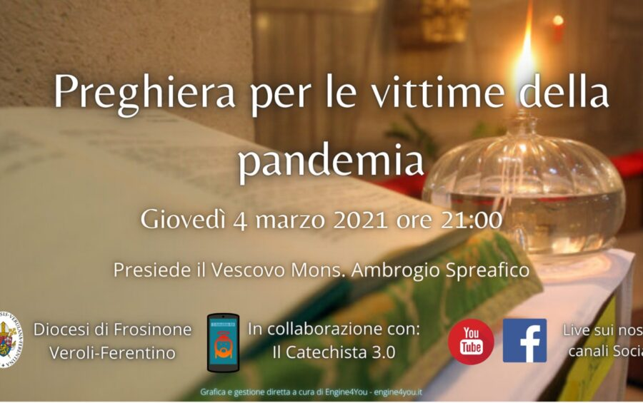 Il 4 marzo in preghiera per le vittime della pandemia