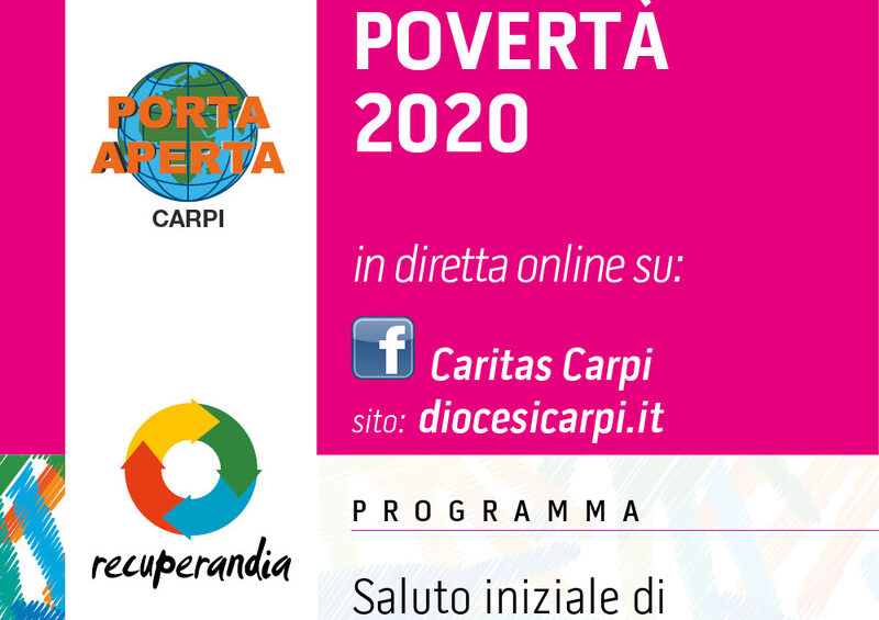 """""""Rapporto povertà 2020"""": il 20 aprile la presentazione in streaming"""