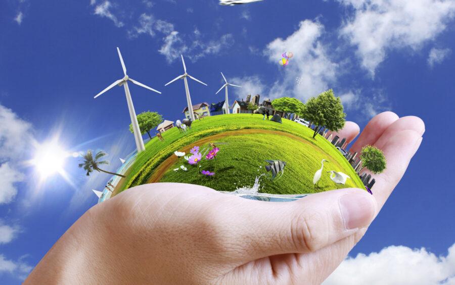 Energie rinnovabili - Risorse - Uomo e natura - Verde - Cielo