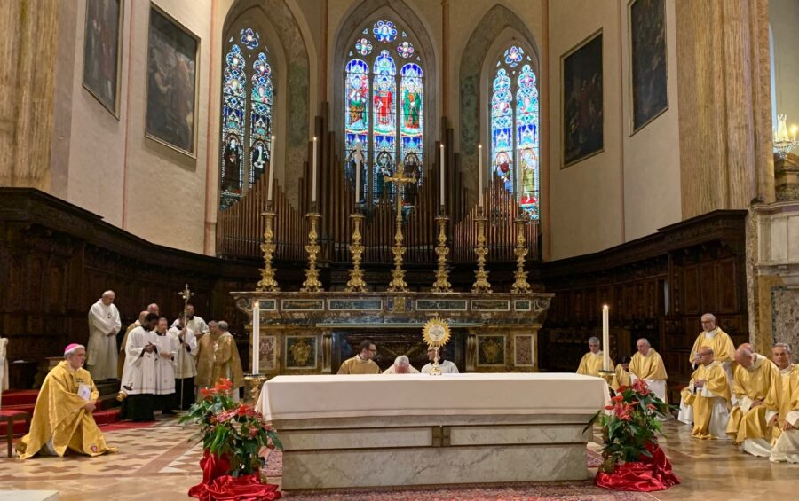 La solennità del Corpus Domini presieduta dal card. Bassetti